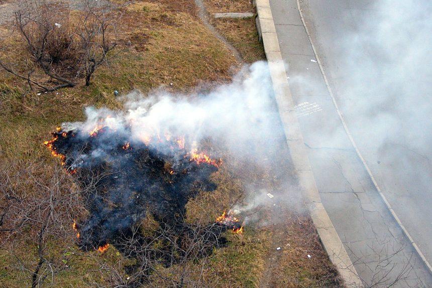 пожар горящая трава поджог сжигание травы