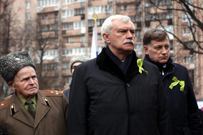 Георгий Полтавченко Вячеслав Макаров ветераны площадь Мужества