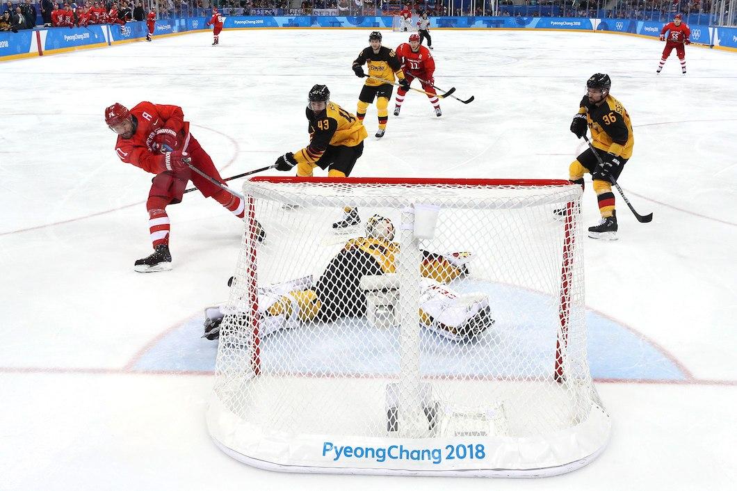 хоккей Олимпиада 2018 матч Россия Германия