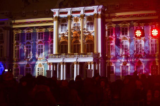 Зимний вечер света Царское село световое шоу