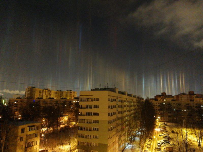 Световые столбы оптическое явление гало