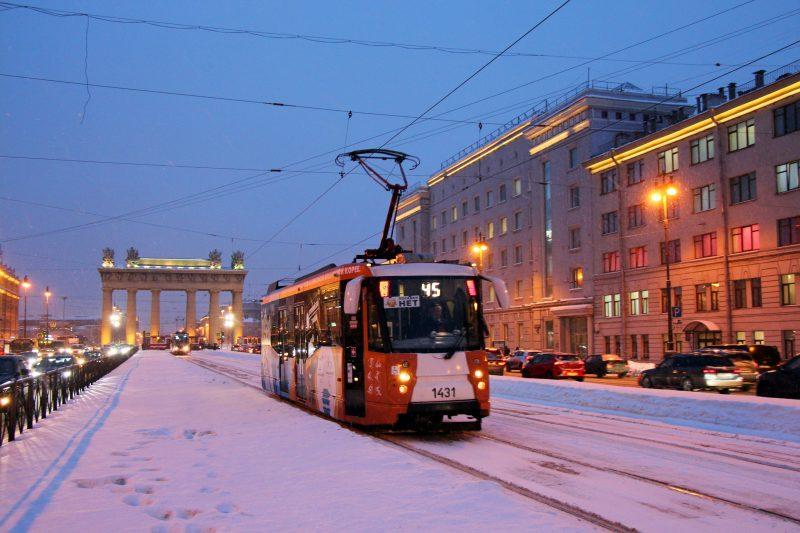 Олимпийский трамвай Московский проспект Московские ворота