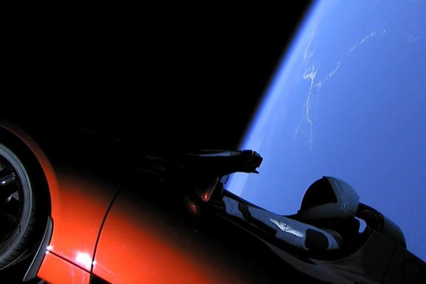 Tesla в космосе тесла