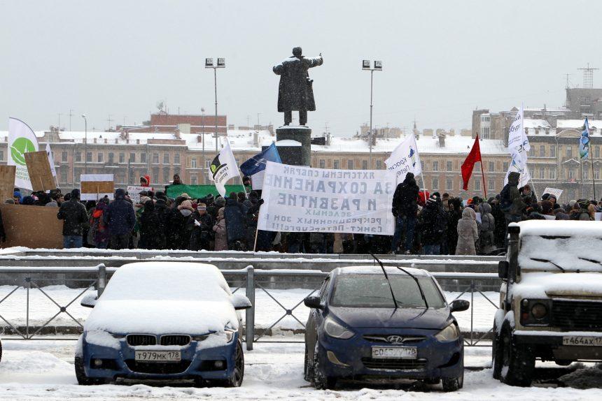 митинг зелёная коалиция площадь ленина