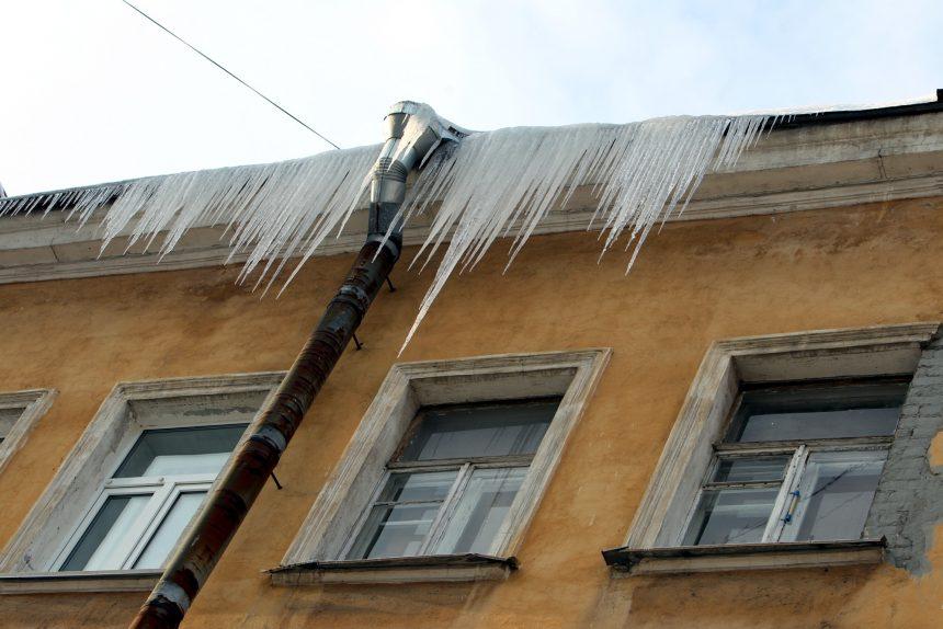 сосульки зима лёд