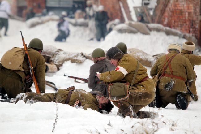 реконструкция Сталинградская битва медики Красная Армия