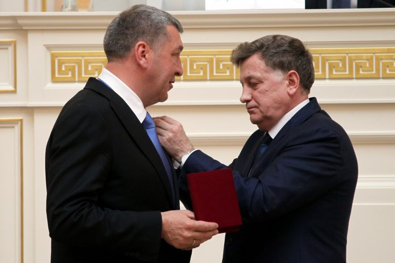спикер Законодательного Собрания Вячеслав Макаров вице-губернатор Игорь Албин