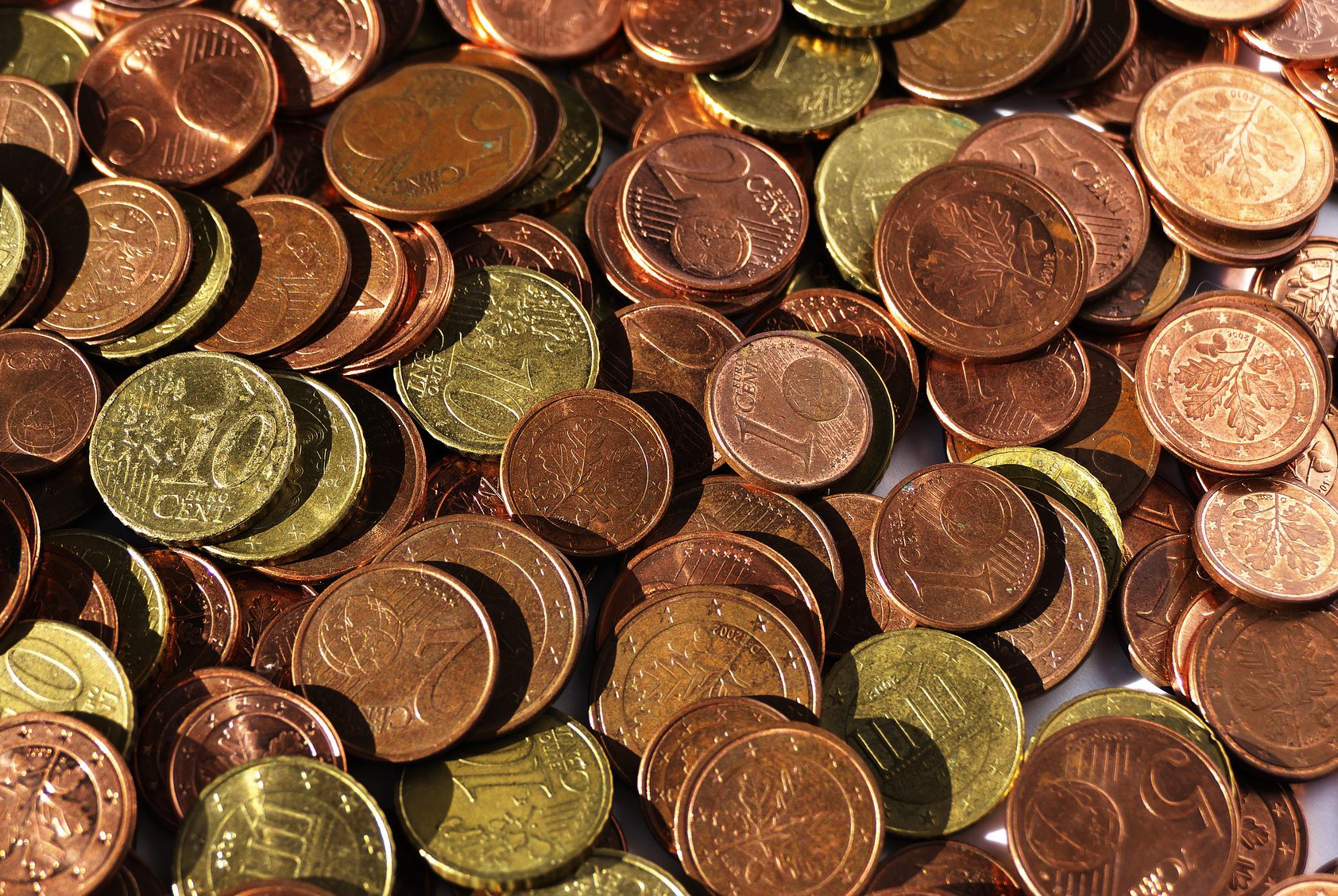 евро деньги монеты