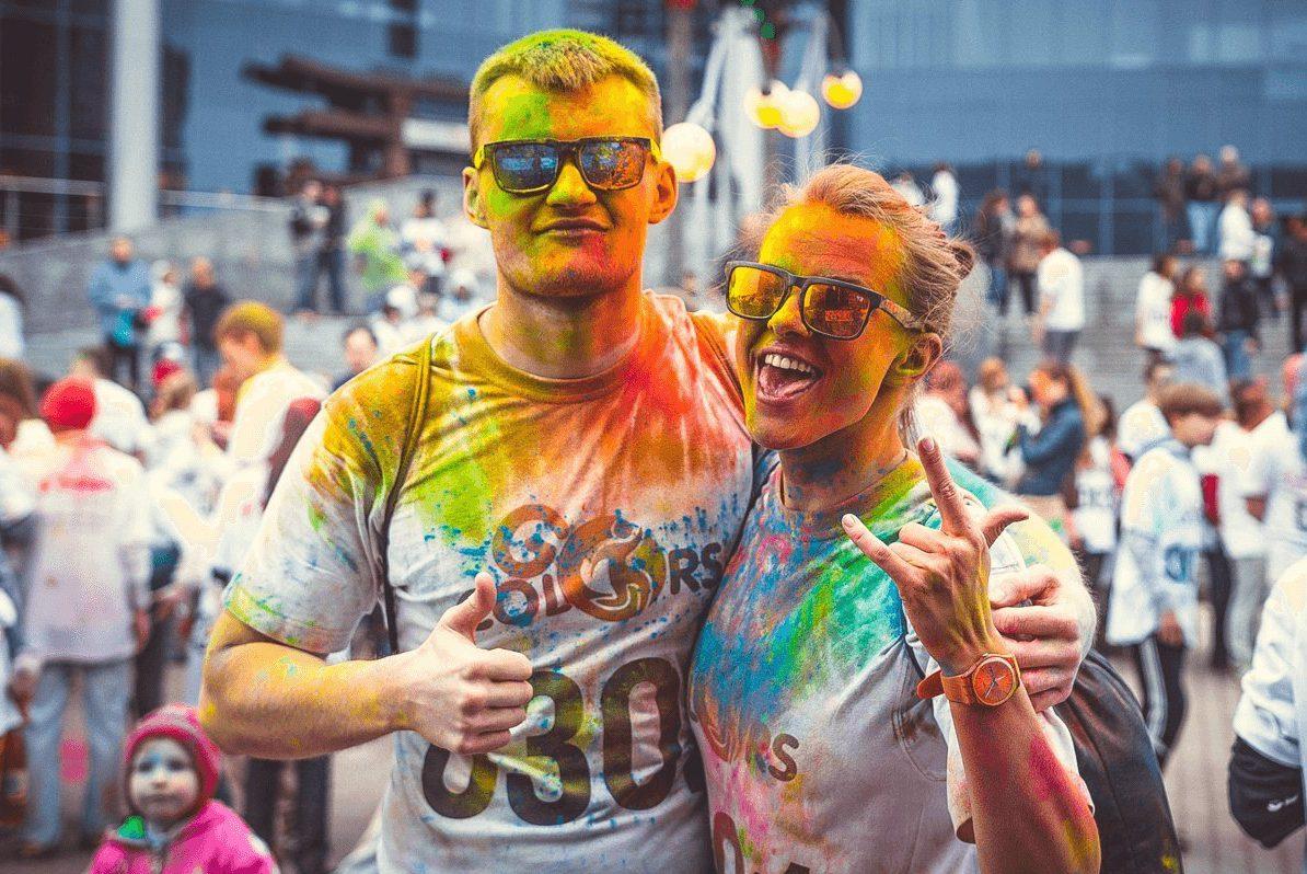 люди в краске, краски, красочный забег, colorsgo
