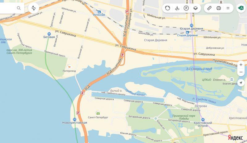 яндекс карты станции метро новокрестовская и беговая