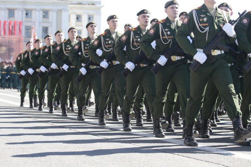 репетиция парада 9 мая курсанты