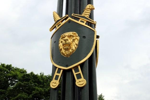 1-й садовый мост реставрация позолота щит
