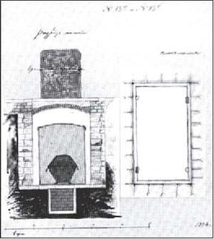 G_Botta_Plan_i_razrez_mogily_imperatora_Alexandra_III_Proektny_chertezh_1894_g План и разрез могилы императора Александра III