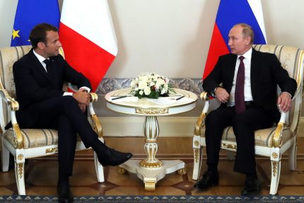 Владимир Путин Эммануэль Макрон