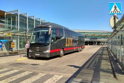 автобус lux express в аэропорту Хельсинки