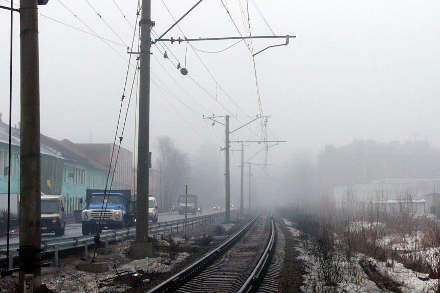Железнодорожная ветка Сестрорецкого направления железная дорога туман