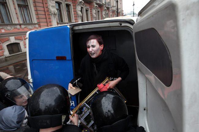 первомай задержание Варвары Михайловой полиция