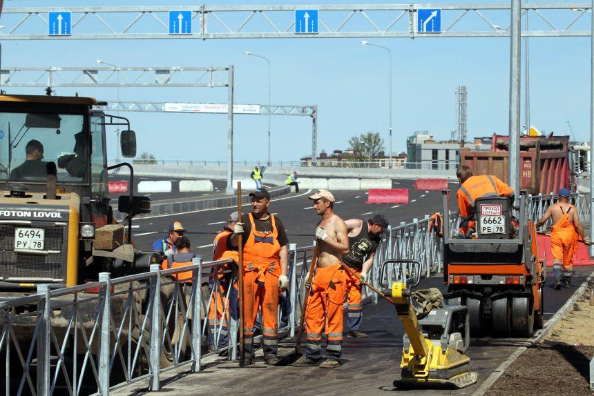 Серный мост Бетанкура дорожные работы строительство