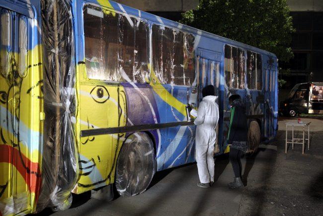 Ночь музеев 2018 музей автобусов автобус икарус 280 граффити