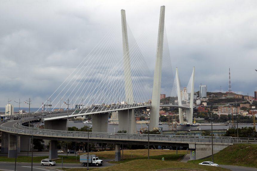 Владивосток мост через бухту Золотой Рог