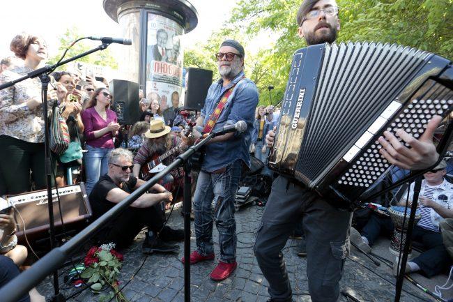 группа Аквариум Борис Гребенщиков концерт на Невском проспекте