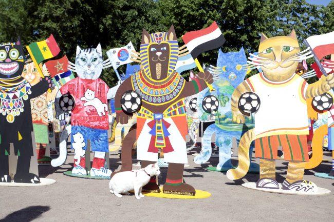 расписные коты к Чемпионату мира по футболу 2018