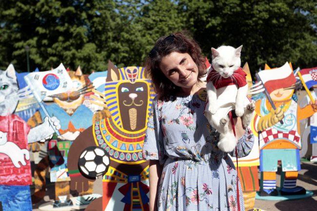 расписные коты к Чемпионату мира по футболу 2018 кот Ахилл
