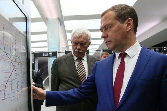 медведев полтавченко метро новокрестовская схема метро