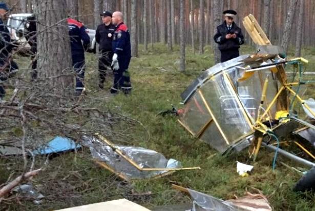 крушение самодельного самолёта Приозерский район Ленобласти