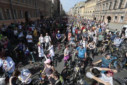 велосипеды велопарад день города