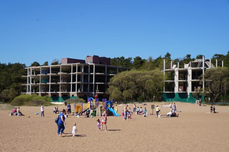 самострой пляж зеленогорск