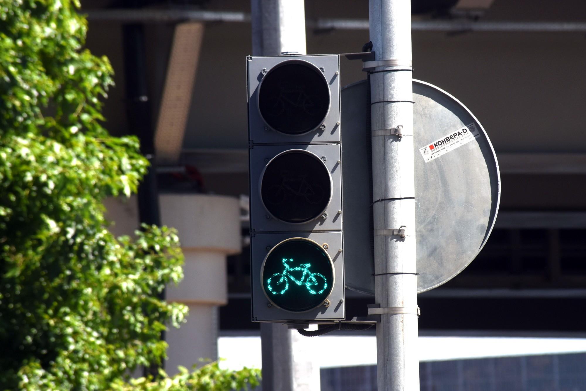 светофор для велосипедистов Морская набережная