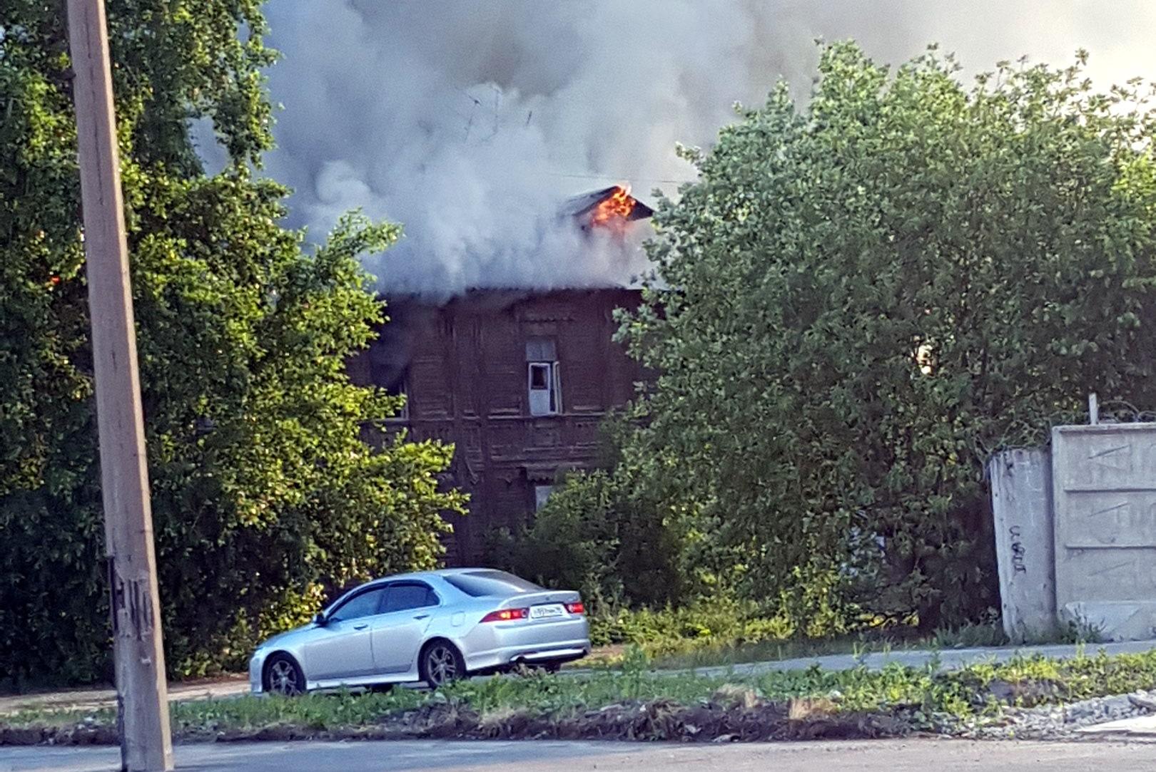 пожар деревянное здание Обводный канал 116 корпус 2