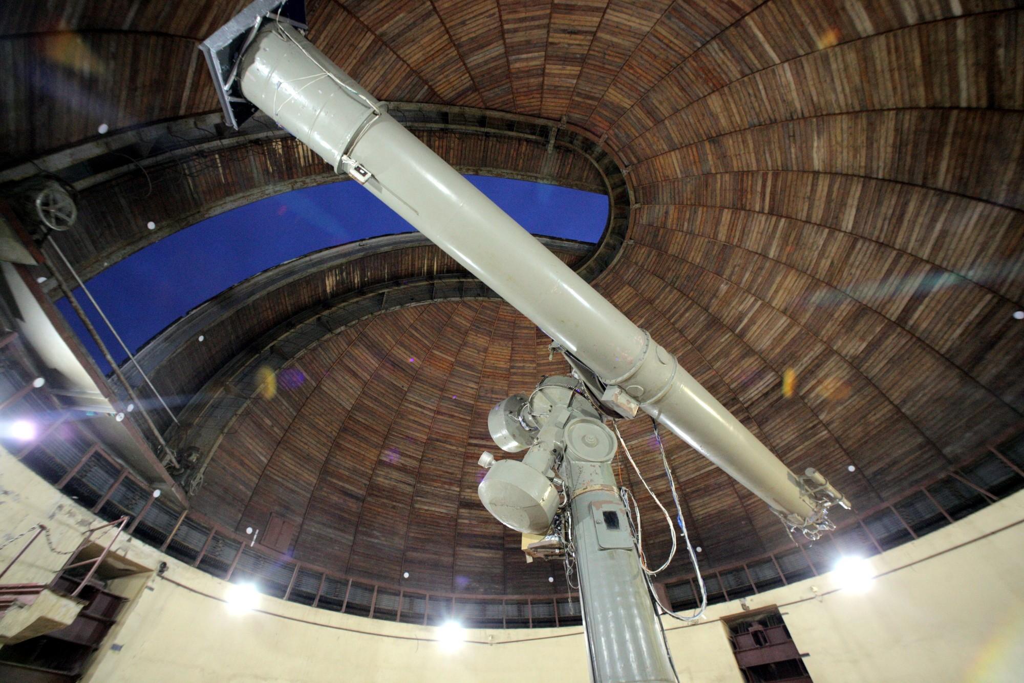 Пулковская обсерватория 26-дюймовый рефрактор телескоп астрономия
