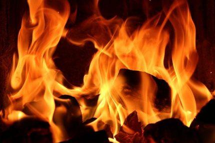 пожар огонь пламя