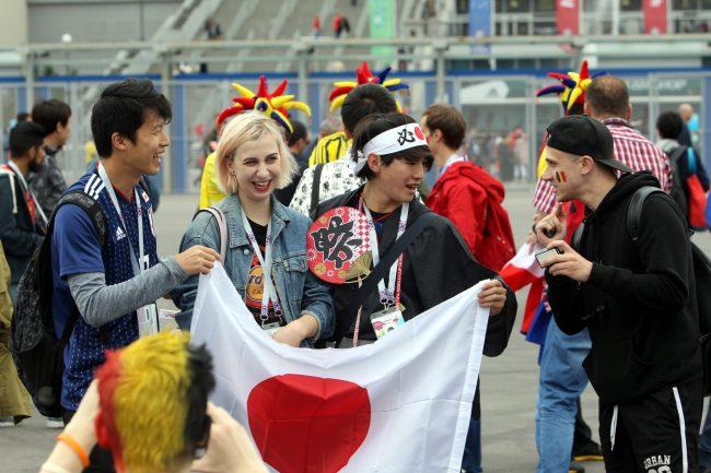 ЧМ-2018 футбол болельщики фанаты Япония