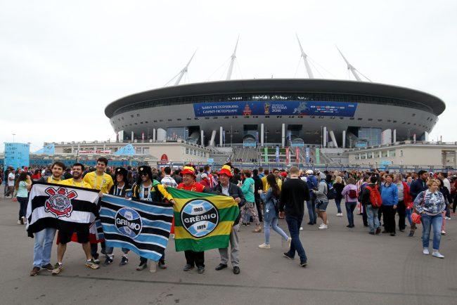 ЧМ-2018 футбол болельщики фанаты Бельгия стадион на Крестовском