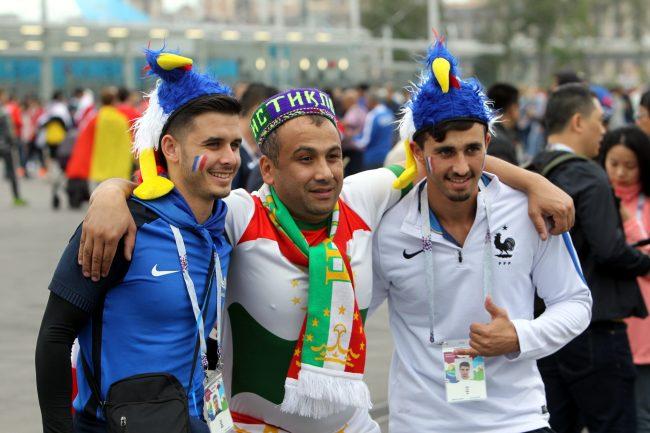 ЧМ-2018 футбол болельщики фанаты Франция Таджикистан