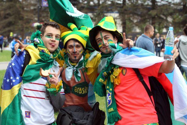 ЧМ-2018 футбол болельщики фанаты Бразилия