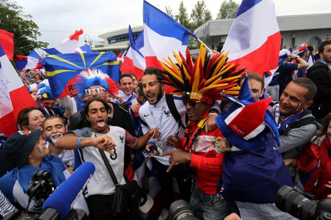 ЧМ-2018 футбол болельщики фанаты Бельгия Франция