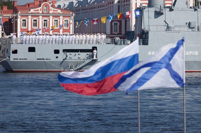 день ВМФ главный военно-морской парад флаги