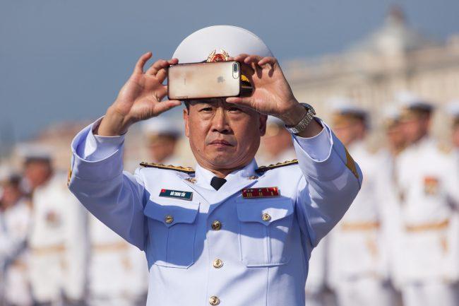 день ВМФ главный военно-морской парад офицер Вьетнам