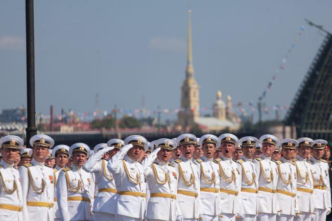 день ВМФ главный военно-морской парад офицеры моряки