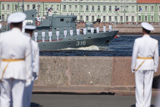 день ВМФ главный военно-морской парад офицеры моряки корабли