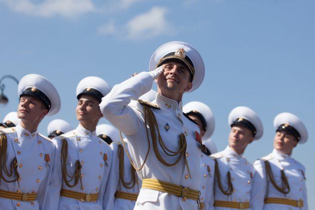 день ВМФ главный военно-морской парад офицеры