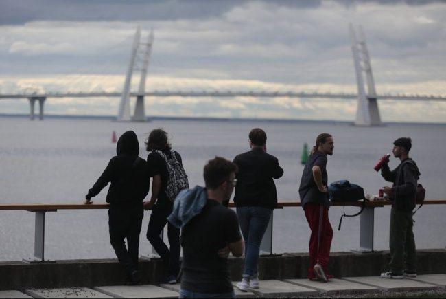 urban cultural festival люди финский залив мост