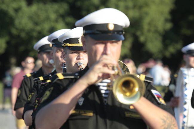 репетиция военно-морского парада день ВМФ военный оркестр