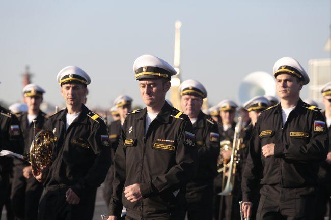 репетиция военно-морского парада день ВМФ