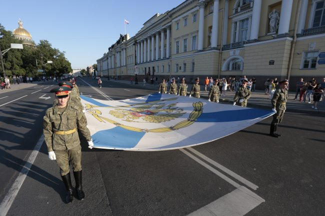 репетиция военно-морского парада день ВМФ флаг