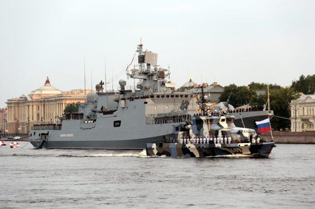 репетиция военно-морского парада военные корабли Адмирал Макаров